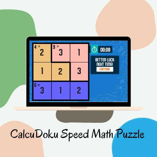 CalcuDoku Speed Math Puzzle